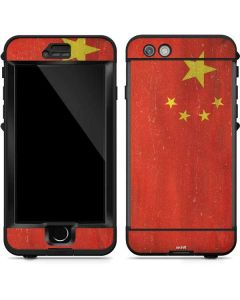 Chinese Flag Distressed LifeProof Nuud iPhone Skin
