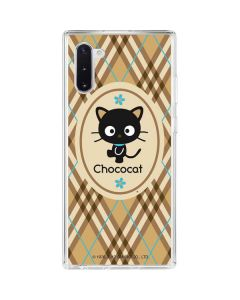 Chococat Brown and Blue Plaid Galaxy Note 10 Clear Case