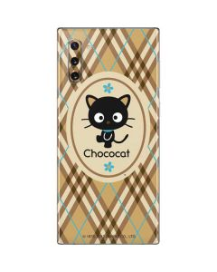 Chococat Brown and Blue Plaid Galaxy Note 10 Skin