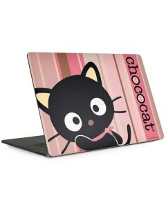 Chococat Pink and Brown Stripes Apple MacBook Pro 15-inch Skin