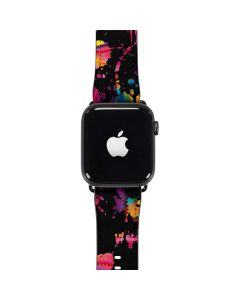 Chromatic Splatter Black Apple Watch Case