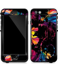 Chromatic Splatter Black LifeProof Nuud iPhone Skin