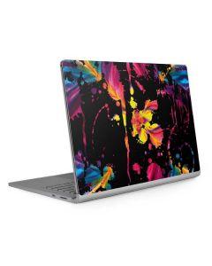 Chromatic Splatter Black Surface Book 2 15in Skin
