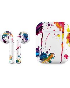 Chromatic Splatter White Apple AirPods 2 Skin
