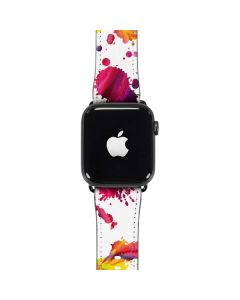 Chromatic Splatter White Apple Watch Case