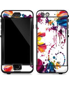 Chromatic Splatter White LifeProof Nuud iPhone Skin