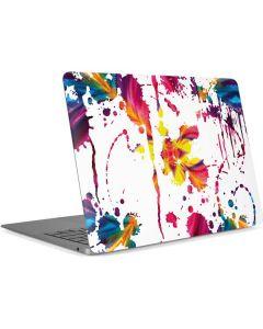 Chromatic Splatter White Apple MacBook Air Skin