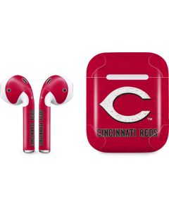Cincinnati Reds - Solid Distressed Apple AirPods 2 Skin