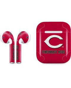 Cincinnati Reds - Solid Distressed Apple AirPods Skin