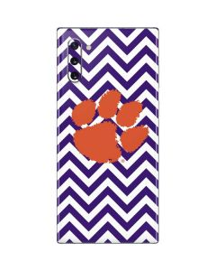 Clemson Chevron Print Galaxy Note 10 Skin