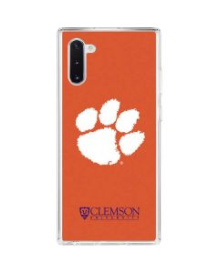 Clemson Paw Mark Galaxy Note 10 Clear Case