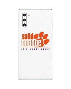 Clemson Solid Orange Its About Pride Galaxy Note 10 Skin