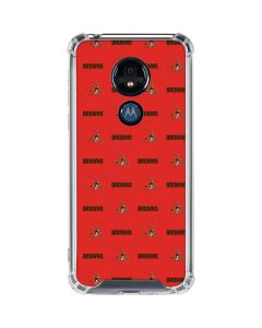 Cleveland Browns Blitz Series Moto G7 Power Clear Case