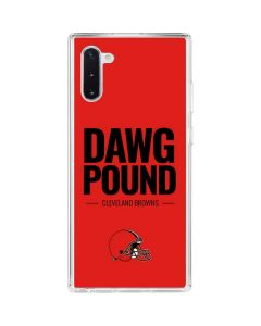 Cleveland Browns Team Motto Galaxy Note 10 Clear Case