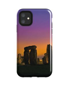 Clouds Over Stonehenge iPhone 11 Impact Case