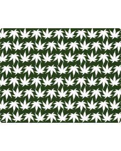 Marijuana Leaf White Pattern Generic Laptop Skin