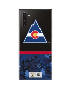 Colorado Avalanche Retro Tropical Print Galaxy Note 10 Skin