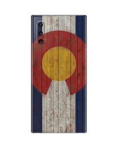 Colorado Flag Dark Wood Galaxy Note 10 Skin