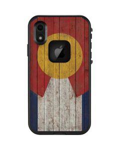Colorado Flag Dark Wood LifeProof Fre iPhone Skin