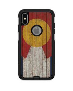 Colorado Flag Dark Wood Otterbox Commuter iPhone Skin