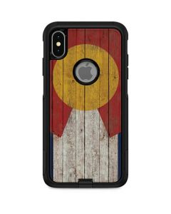 Colorado Flag Dark Wood Otterbox Commuter iPhone Skin