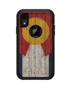 Colorado Flag Dark Wood Otterbox Defender iPhone Skin