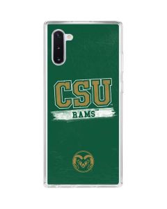 Colorado State Distressed Galaxy Note 10 Clear Case