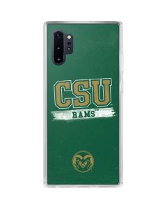 Colorado State Distressed Galaxy Note 10 Plus Clear Case