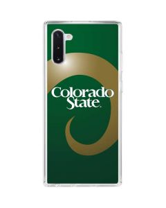 Colorado State Galaxy Note 10 Clear Case