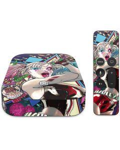 Colorful Harley Quinn Apple TV Skin