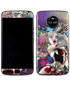 Colorful Harley Quinn Moto X4 Skin