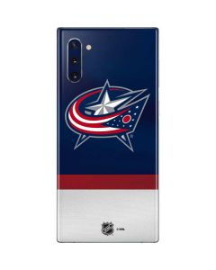 Columbus Blue Jackets Alternate Jersey Galaxy Note 10 Skin