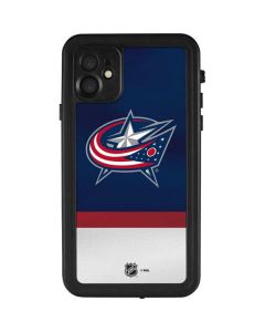 Columbus Blue Jackets Alternate Jersey iPhone 11 Waterproof Case