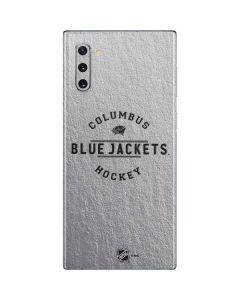 Columbus Blue Jackets Black Text Galaxy Note 10 Skin