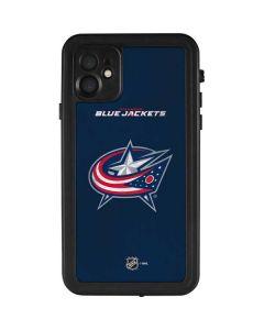 Columbus Blue Jackets Distressed iPhone 11 Waterproof Case