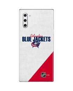 Columbus Blue Jackets Script Galaxy Note 10 Skin