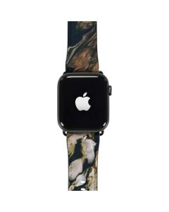 Copper and Black Marble Ink Apple Watch Band 38-40mm