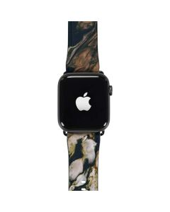 Copper and Black Marble Ink Apple Watch Band 42-44mm