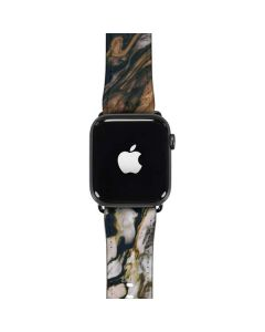 Copper and Black Marble Ink Apple Watch Case