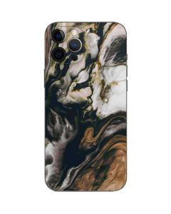 Copper and Black Marble Ink iPhone 12 Pro Max Skin