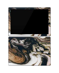 Copper and Black Marble Ink Surface Pro 7 Skin