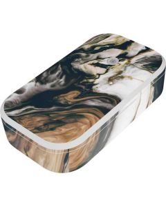 Copper and Black Marble Ink UV Phone Sanitizer and Wireless Charger Skin