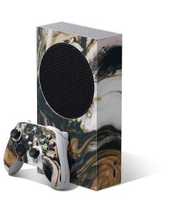 Copper and Black Marble Ink Xbox Series S Bundle Skin