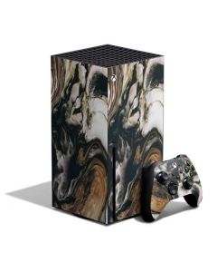 Copper and Black Marble Ink Xbox Series X Bundle Skin