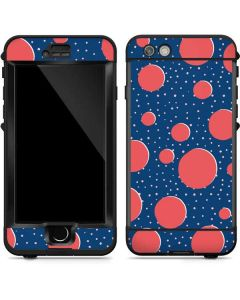 Coral Polka Dots LifeProof Nuud iPhone Skin