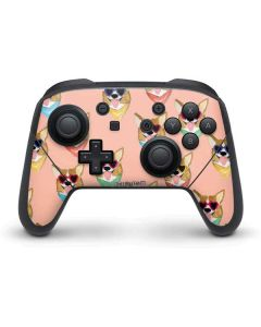 Corgi Love Nintendo Switch Pro Controller Skin