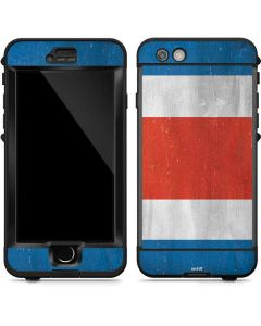 Costa Rican Flag Distressed LifeProof Nuud iPhone Skin