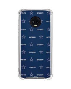 Dallas Cowboys Blitz Series Moto G6 Clear Case