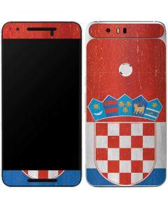 Croatia Flag Distressed Google Nexus 6P Skin