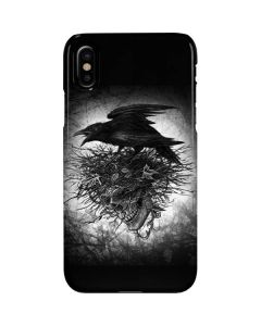 Crow and Skull iPhone XS Max Lite Case